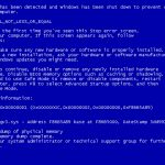Windows Blue Screen of Death (Crash screen)